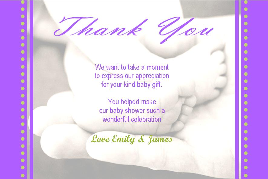 Baby Gift Thank You Wording From Baby : Tips and ideas for baby shower thank you cards