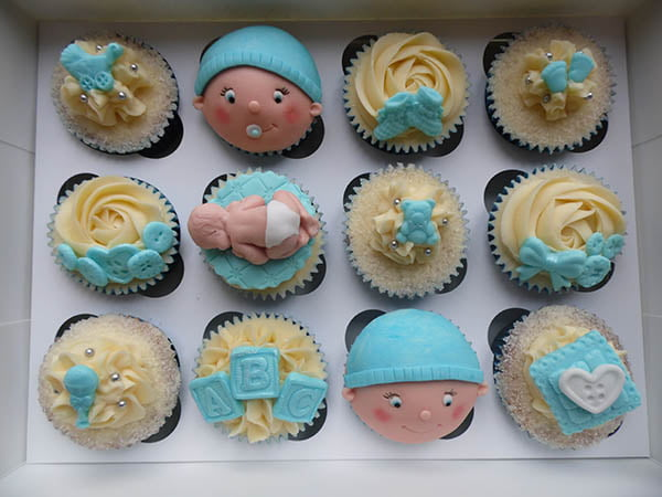 Baby Face Baby Shower Cupcakes Ideas