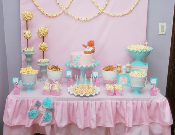 Blue Anda Pink Baby Shower Decoration Ideas