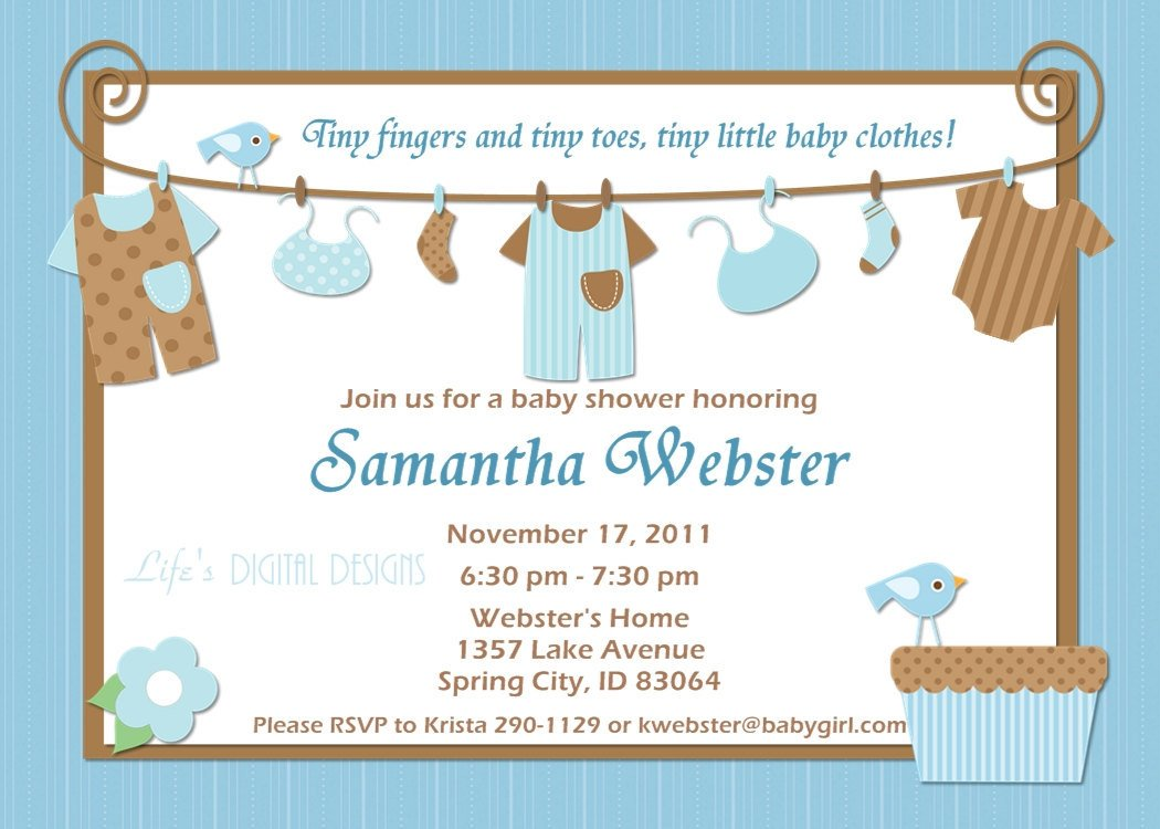 Ideas For Boys Baby Shower Invitations | Baby Shower for Parents