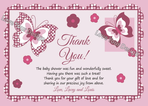 ... And Ideas For Baby Shower Thank You Cards Baby Shower for Parents