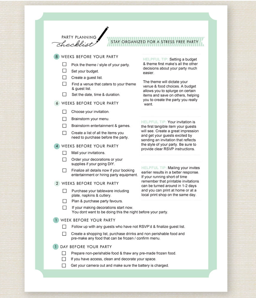 Baby Shower Checklist Make Planning Easy – Baby Shower Checklist