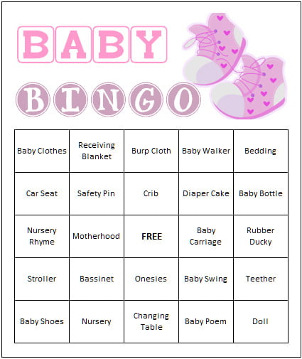 baby shower bingo games free printable baby shower invitations