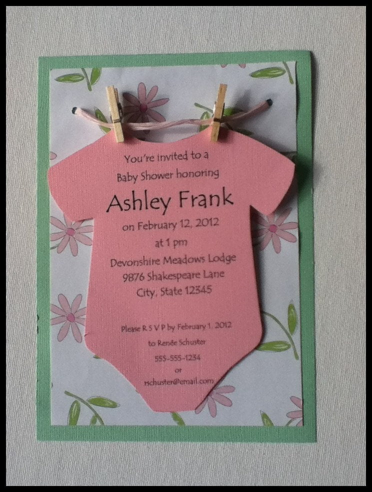 Handmade Baby Shower Invitations Ideas For Girls