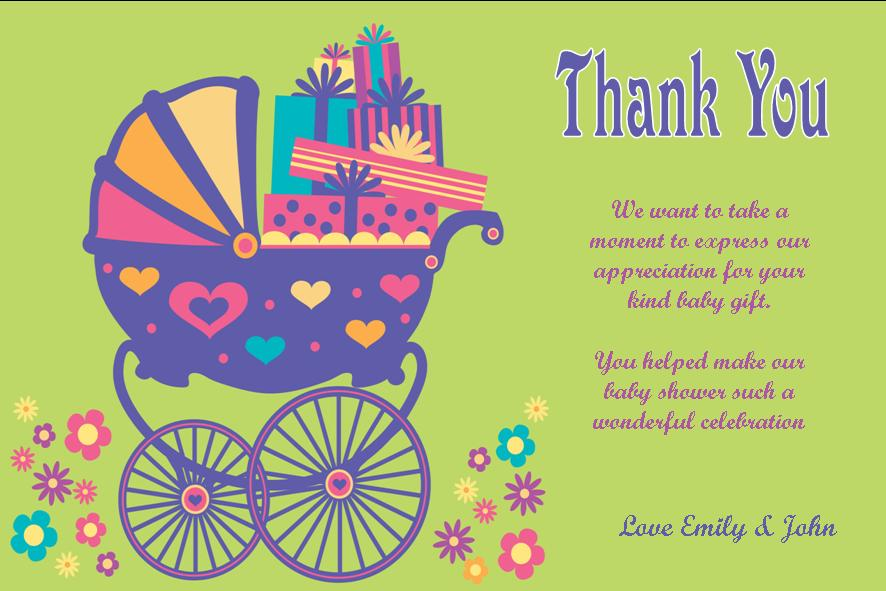 Baby Ser Thank You Note Wording