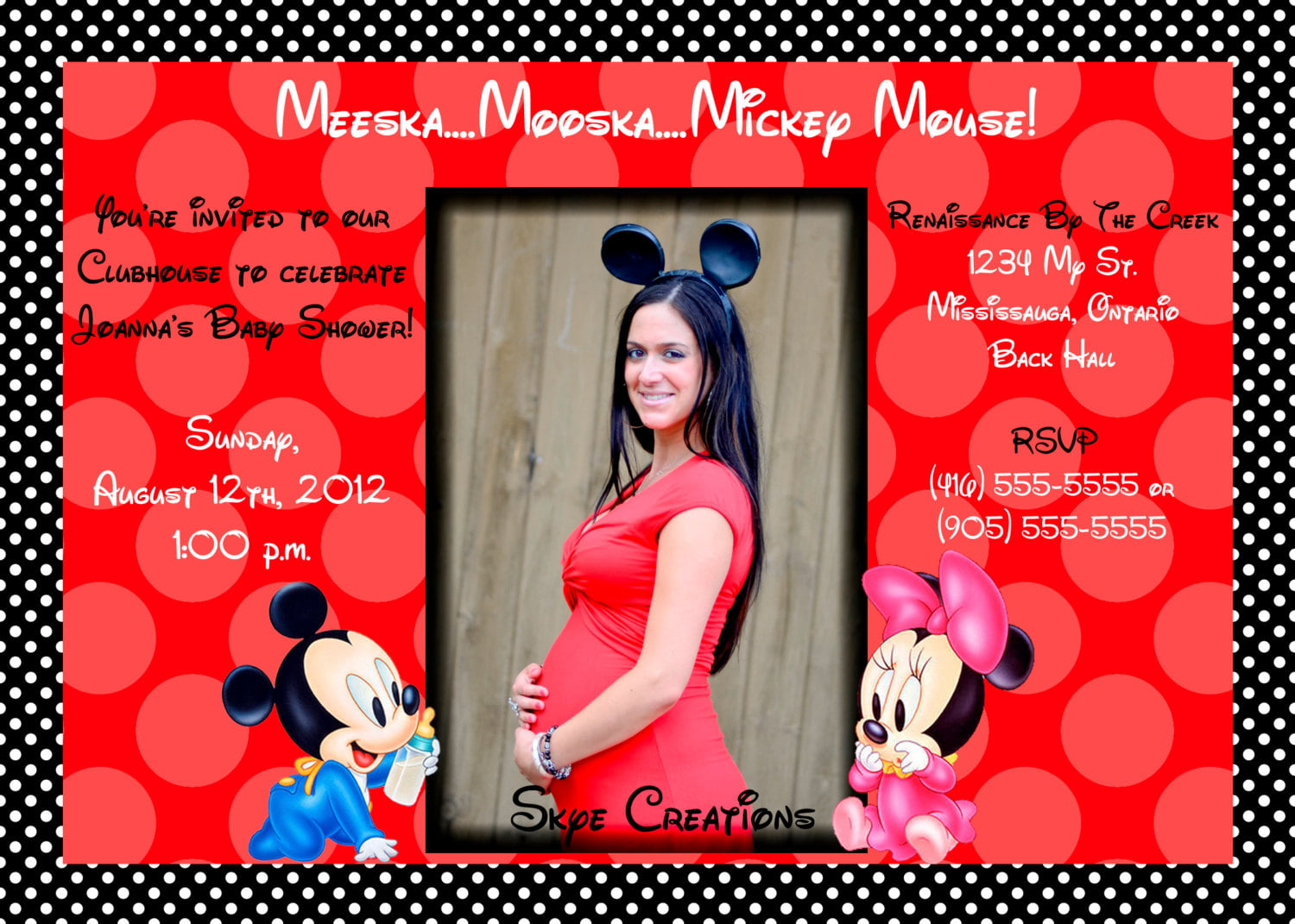 How To Make Minnie Mouse Baby Shower Invitations | FREE Printable ...