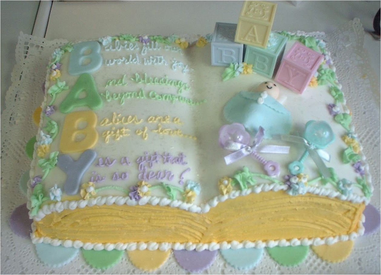 Book Baby Shower Cakes For Neutral Gender