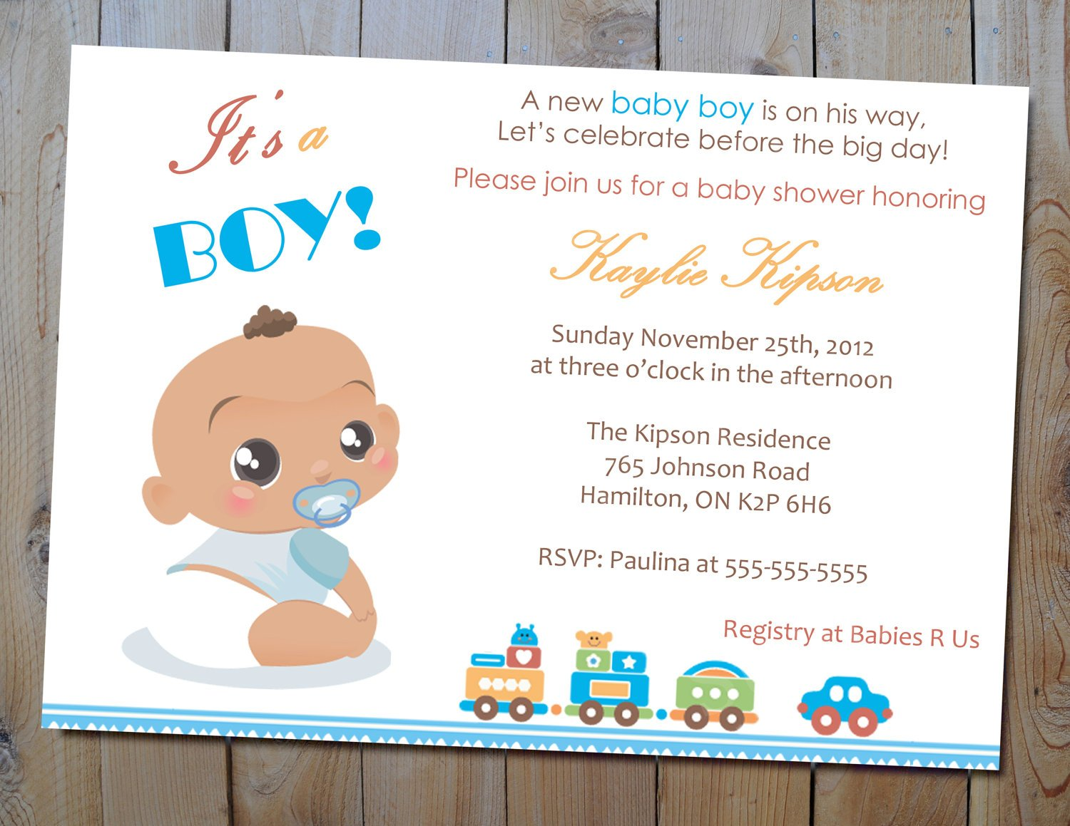 Boy Baby Shower Invitations Wording Ideas