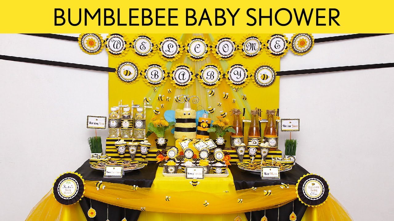 Bumble Bee Baby Shower Decoration Ideas