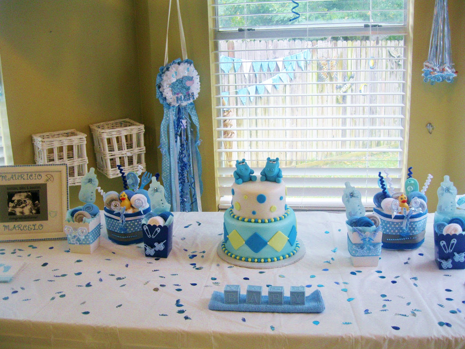 Boy themed baby showers ideas