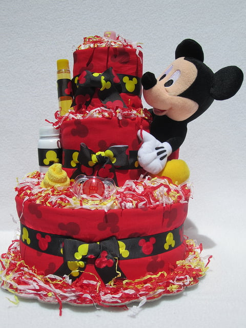 Diaper Cake Mickey Mouse Theme Baby Shower Ideas