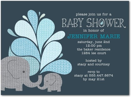 Elephant Baby Shower Invitation Ideas