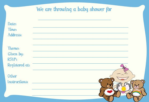 Ideas for baby shower invitation templates free for Baby shower boy invitation templates free