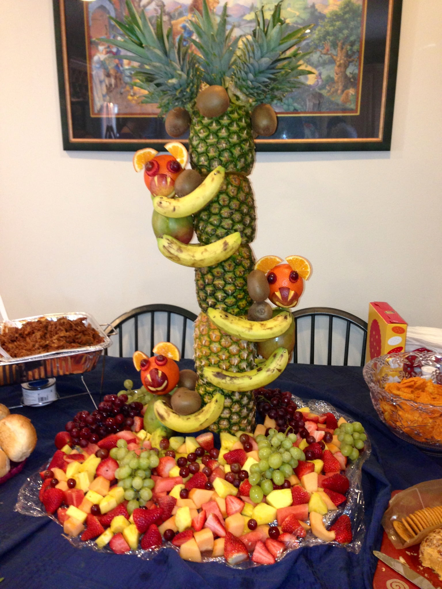 Some ideas for jungle theme baby shower food baby shower for African party decoration