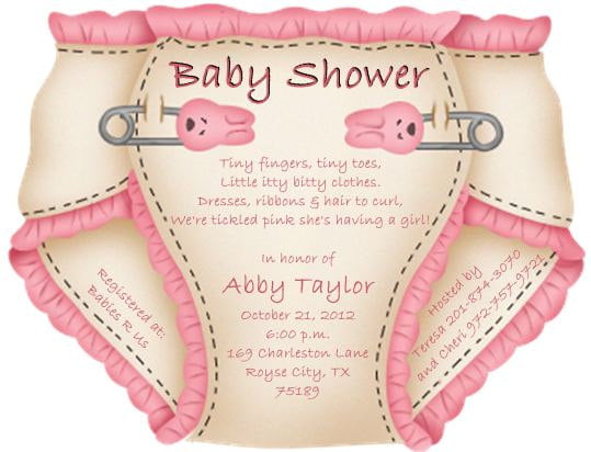 Funny Invitation Templates For Unique Baby Shower