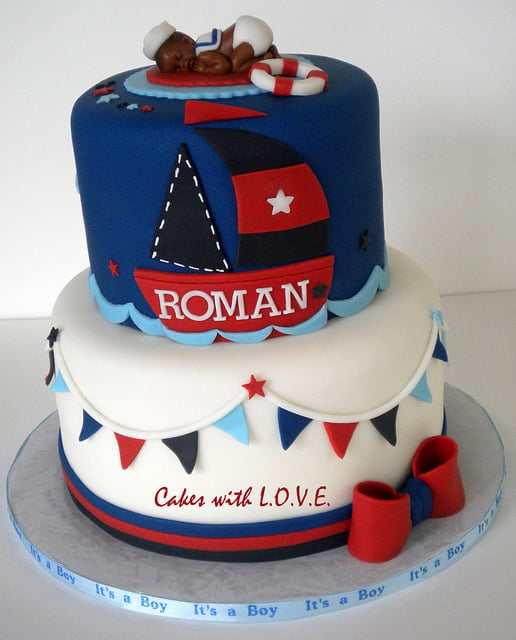 Nautical Themed Baby Shower Cake Ideas