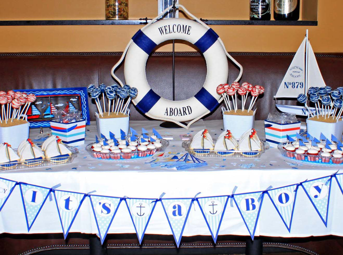 sailboat nautical themed baby shower ideas baby shower