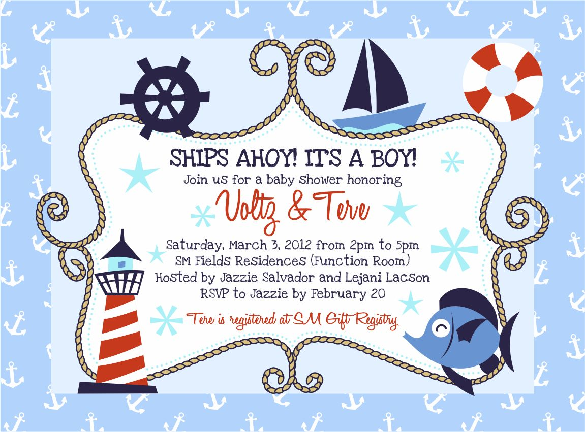 Sly image throughout nautical baby shower invitations printable