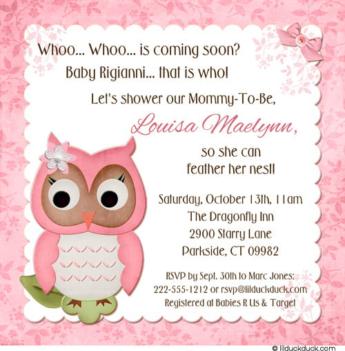 Bird Baby Shower Invitations Free Printable Baby Shower