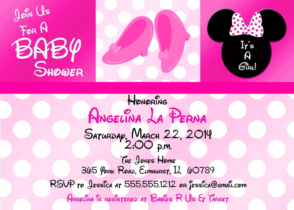 baby minnie mouse invitations baby shower pictures to pin on pinterest