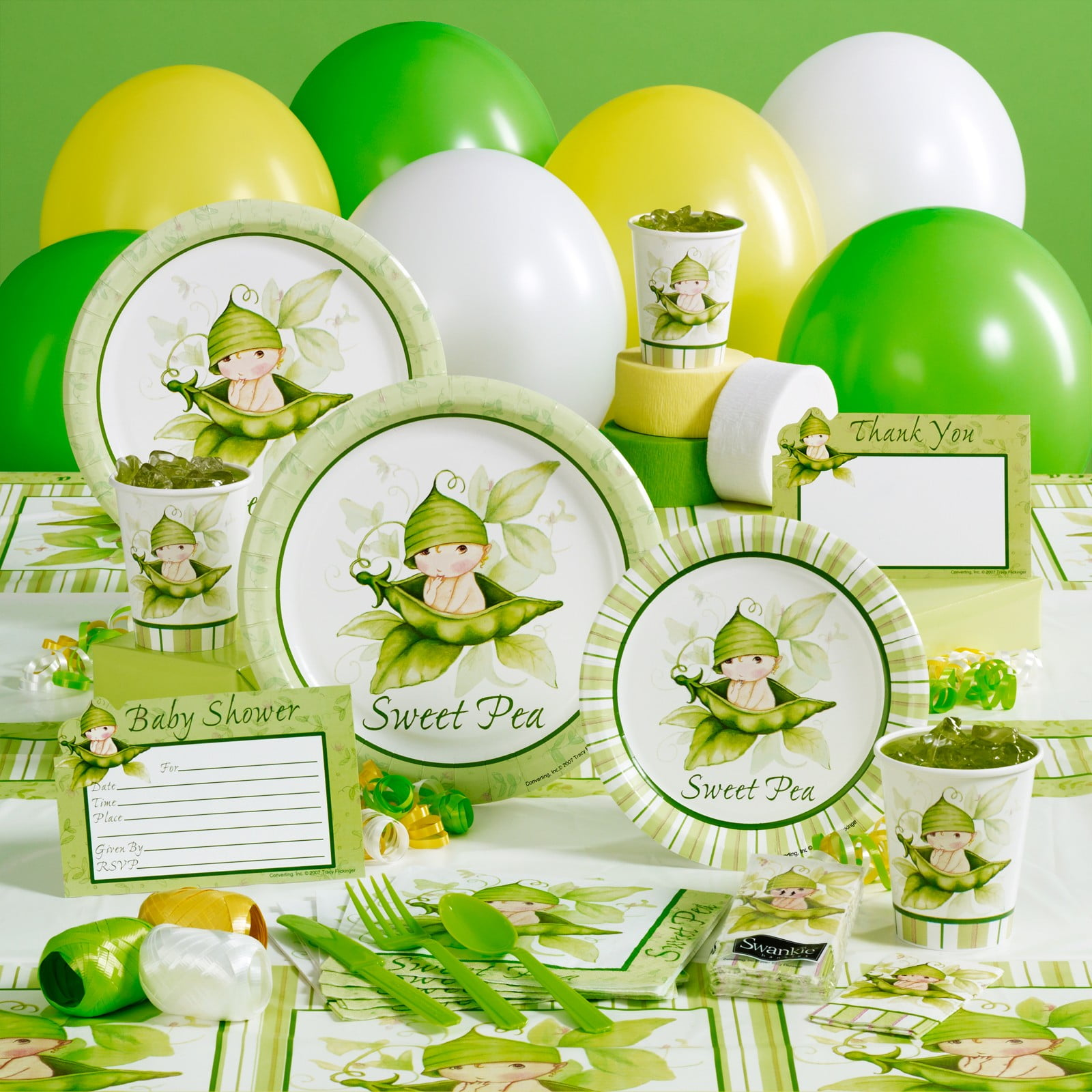 Sweet Green Pea Baby Shower Party Supplies