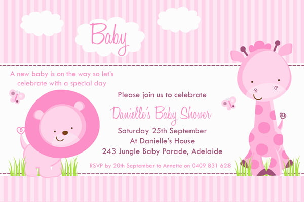 unique cards for girl baby shower invitations  baby shower for, Baby shower invitations