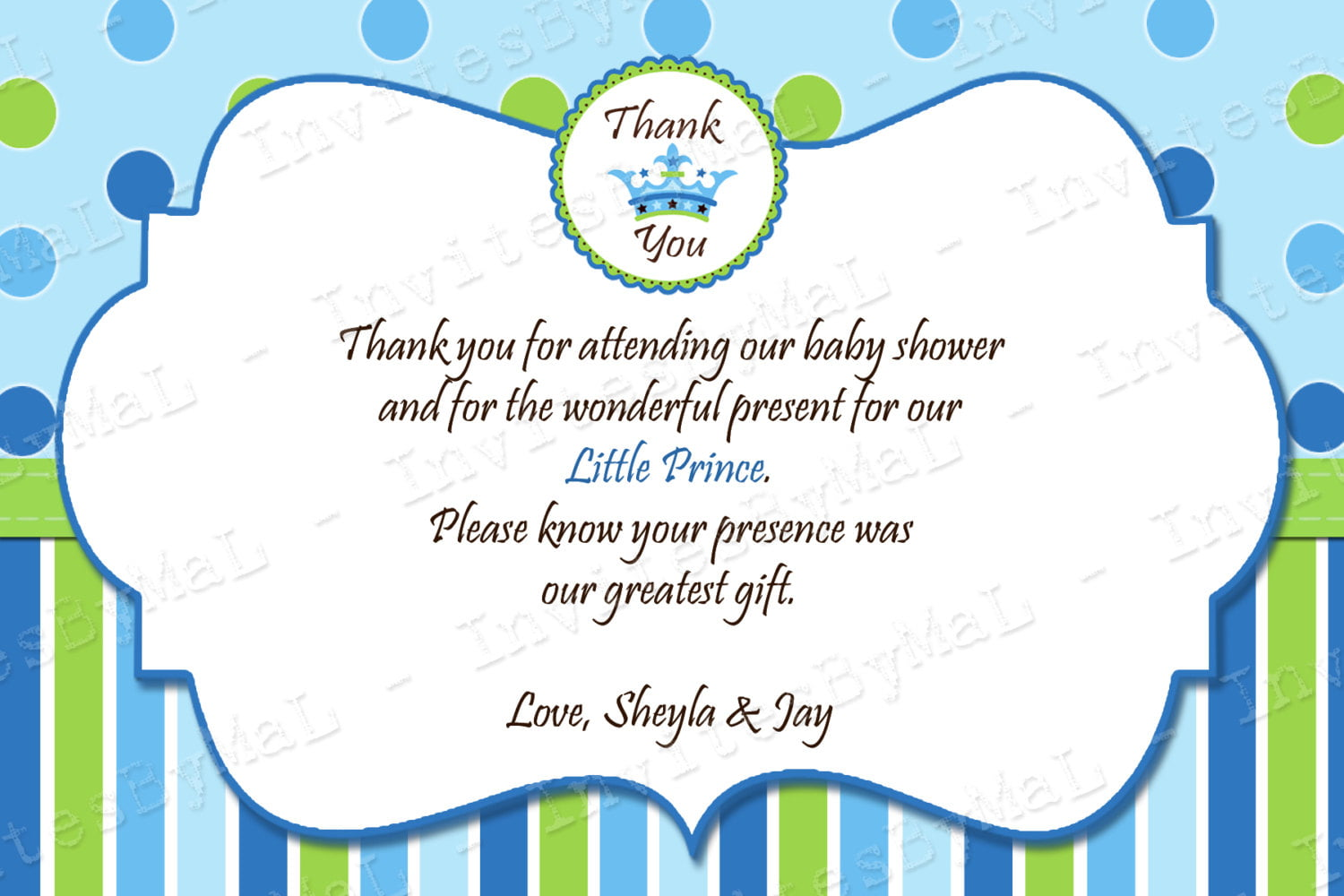tips to writing thank you note for baby shower baby