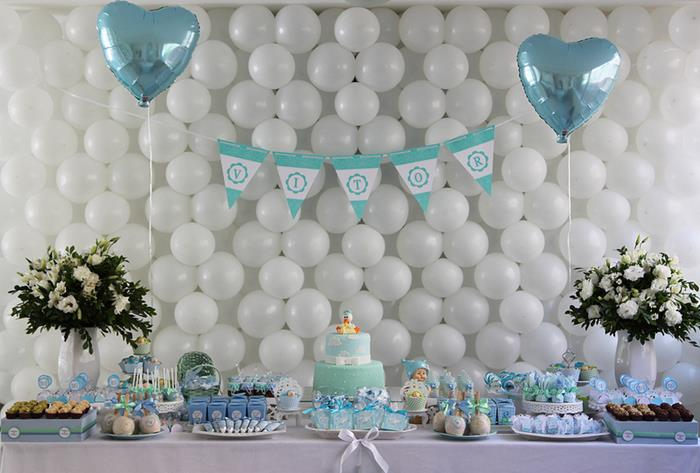 Blue And White Baby Shower Decoration Ideas For Boy