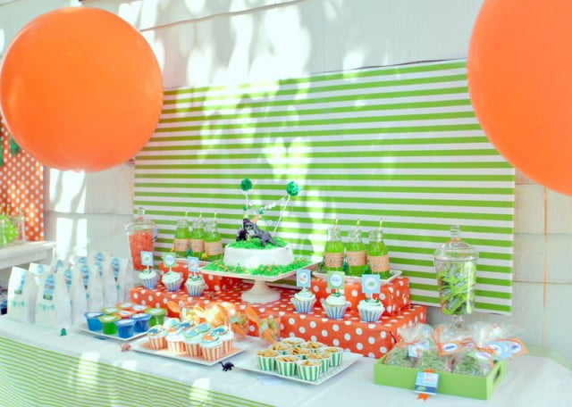 Dinosaur Themed Baby Shower Decoration Ideas