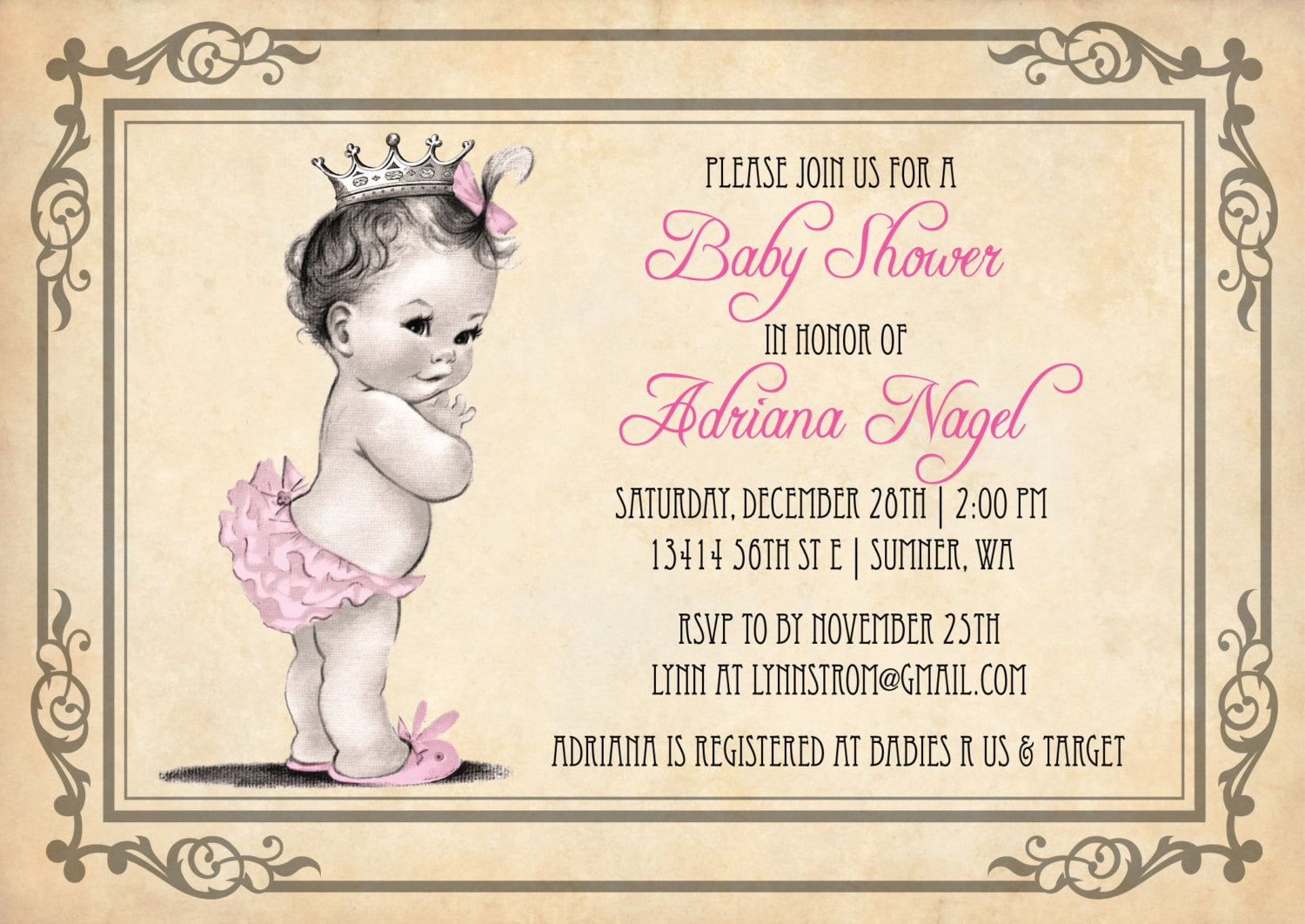 Free Vintage Baby Shower Invitation Wording Ideas