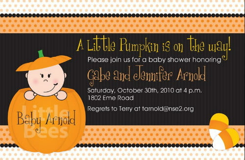 How To Throw Halloween Themed Baby Shower FREE Printable Baby - Halloween baby shower invitations