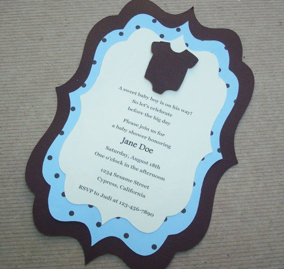 Handmade Baby Shower Invitations Simple Card