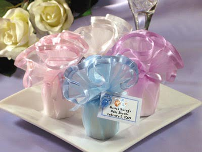 Captivating Inexpensive Wrap In Tule Baby Shower Favors