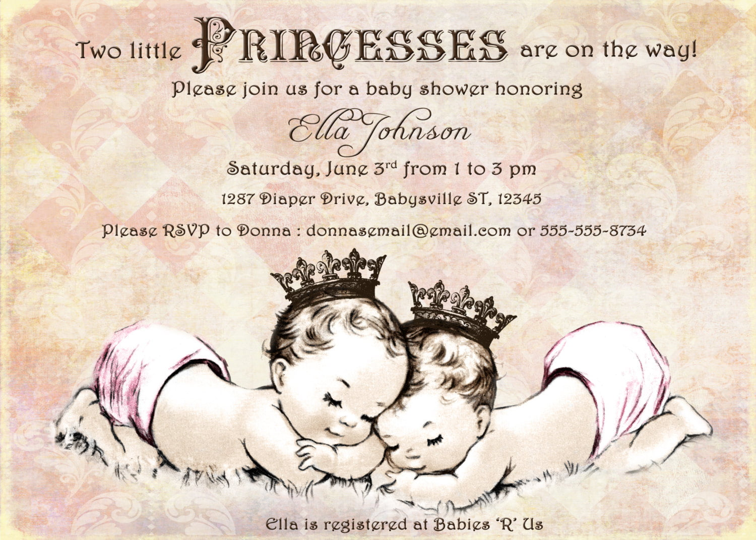 graphic regarding Free Printable Twin Baby Shower Invitations titled Tiny Prince Kid Shower Invites Totally free Printable Boy or girl