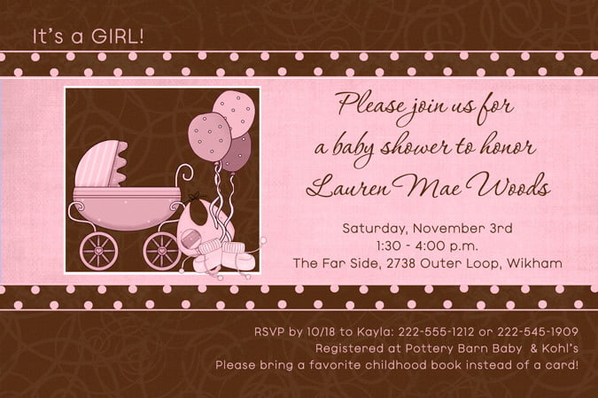 Pink And Brown Baby Shower Ideas Free Printable Baby Shower