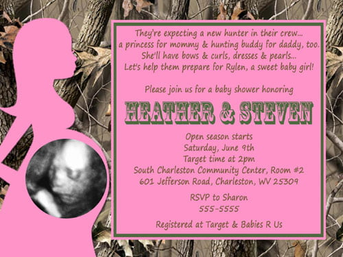 pink camo baby shower invitations baby shower for parents