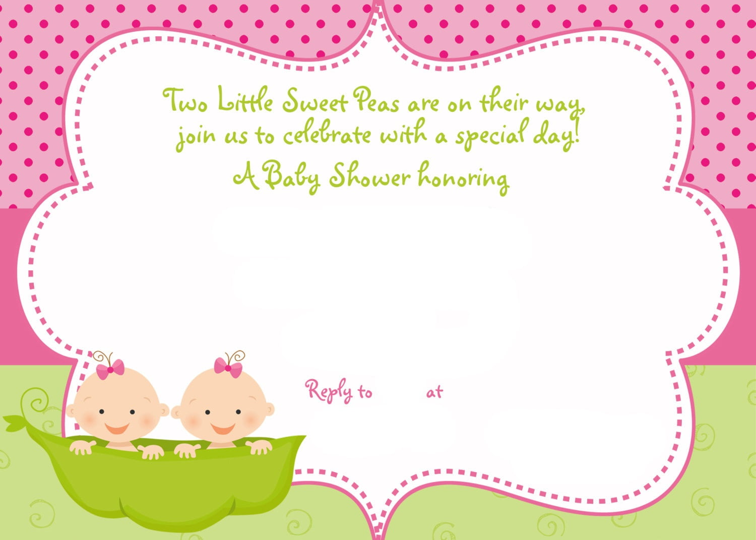 Twins Baby Shower Ideas | FREE Printable Baby Shower Invitations ...
