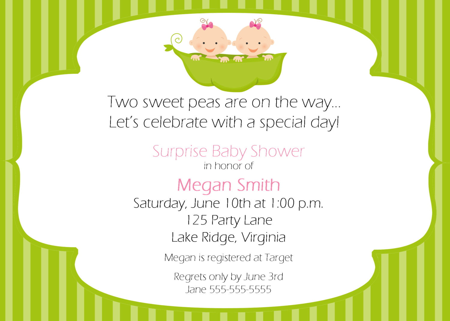 Two Peas In A Pod Baby Shower Theme Ideas For Twin Free Printable