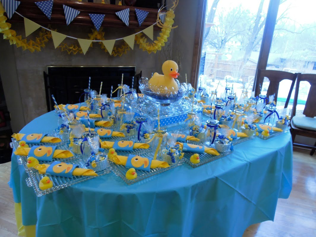 Rubber Ducky Baby Shower Decoration Ideas Free Printable