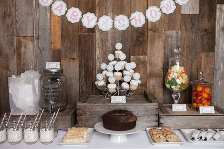 Woodland Themed Baby Shower Favors Table Decoration