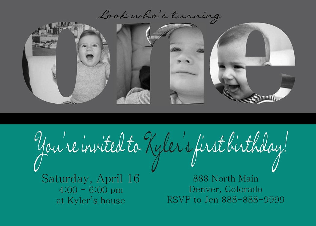Baby Birthday Invitations - Birthday invitations for baby boy 1st
