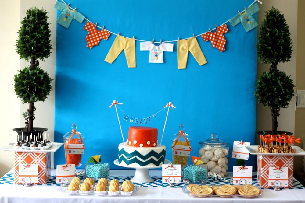 Blue Baby Shower Party Decoration