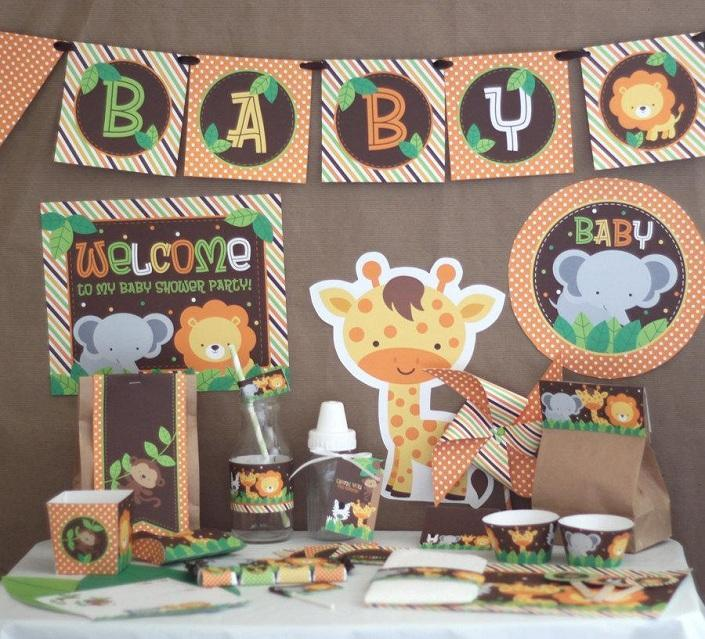 Hosting A Safari Baby Shower Party Supplies