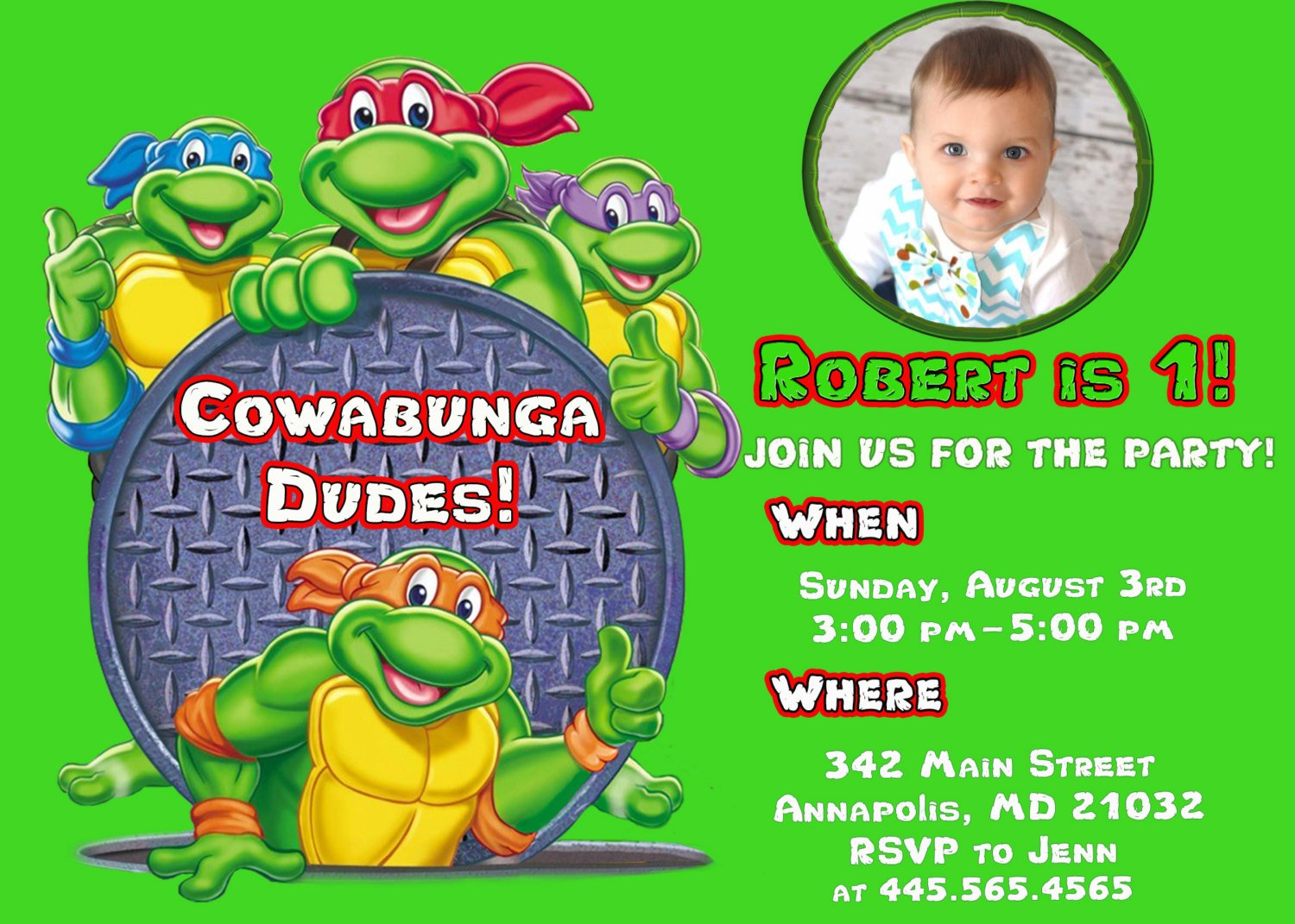 Personalized Ninja Turtle Invitations is great invitations sample
