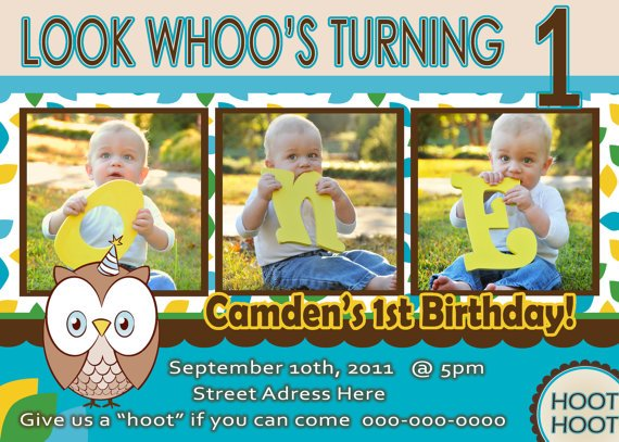Baby boy 1st birthday invitations free printable baby shower owl baby boy 1st birthday invitation templates filmwisefo Images