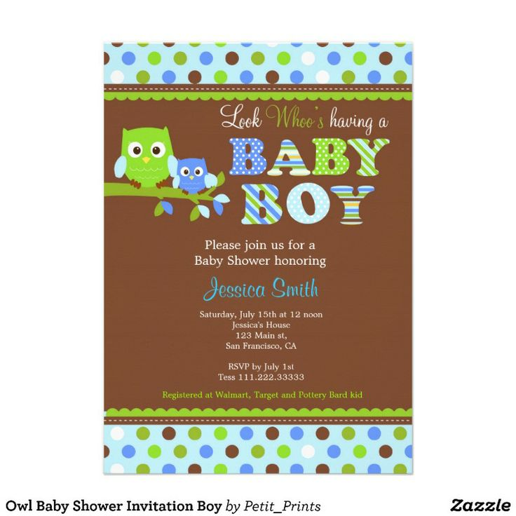 Owl Michaels Baby Shower Invitations