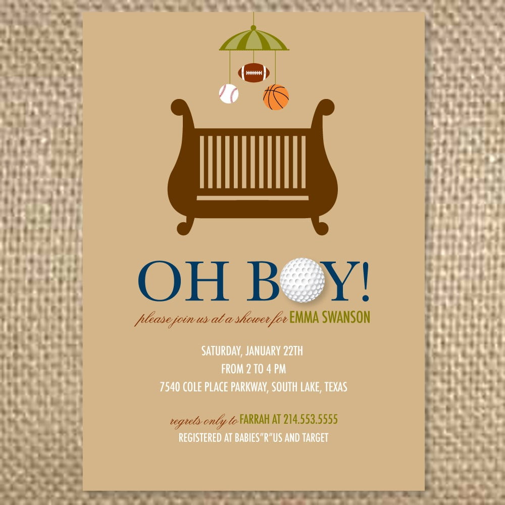chair baby shower invites idea