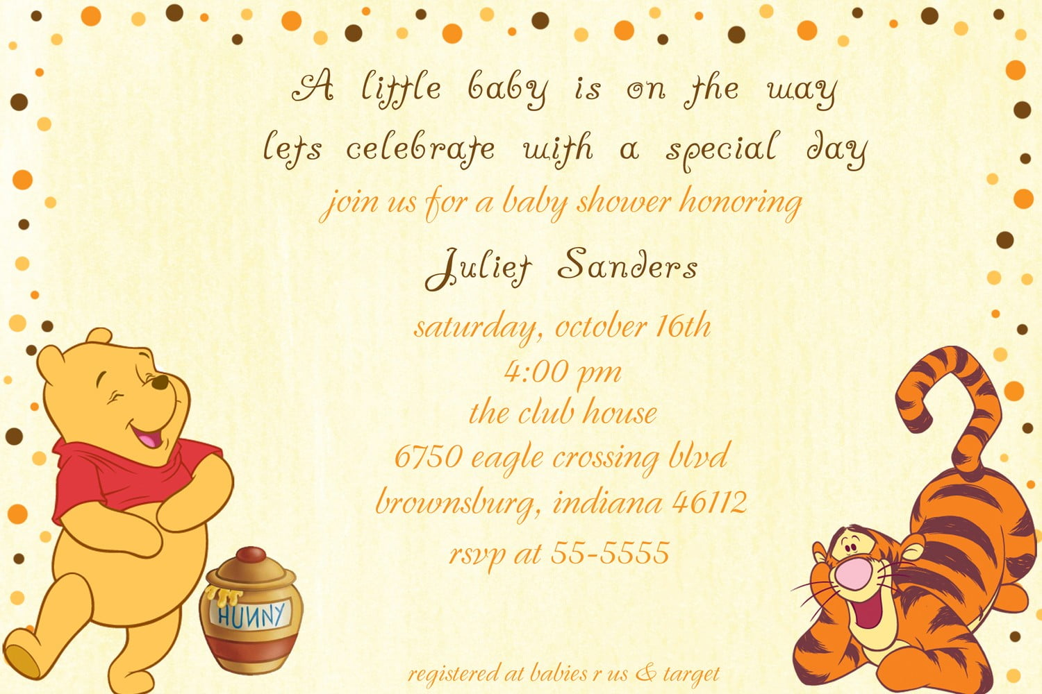 Classic Winnie the Pooh Baby Shower Invitations | FREE Printable ...