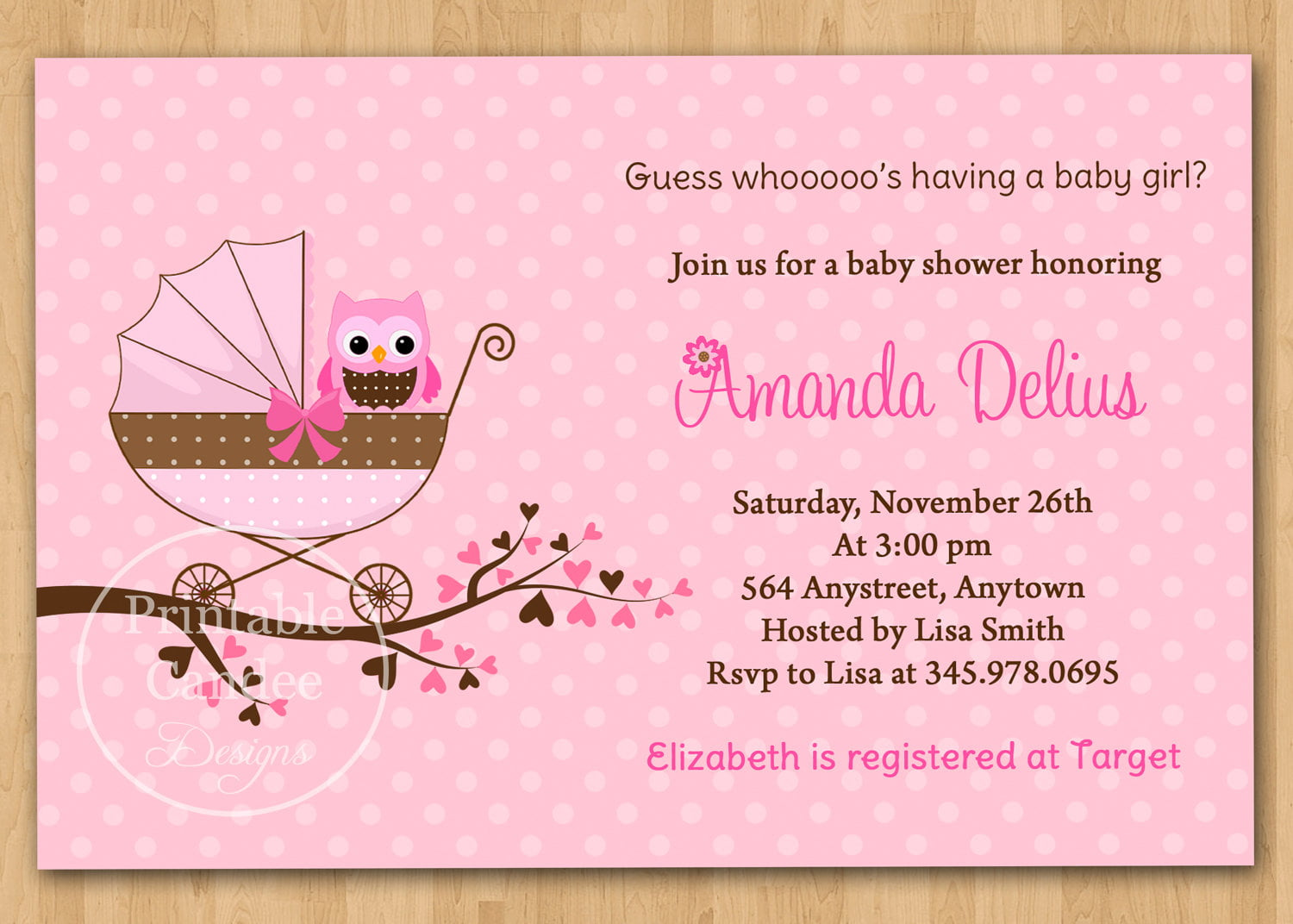 Baby Shower Invitations For A Girl Templates ~ Free printable baby shower invitations for girls