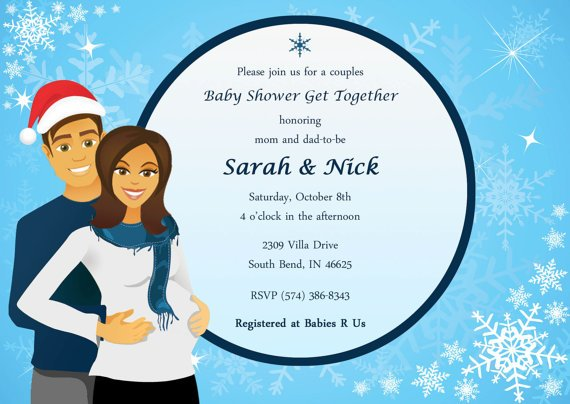 Couples baby shower invitation wording baby shower for parents snowflakes couples baby shower invitations wording filmwisefo Choice Image
